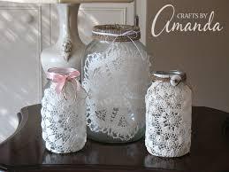 Mason Jar Vases For Wedding Burlap U0026 Doily Luminaries Wedding Jar Lanterns