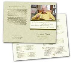 program for funeral how to write a funeral program