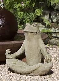 meditating zen frog garden statue cast garden statues and