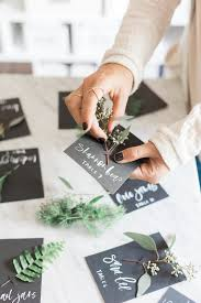 diy place cards simple fall place cards with fresh greenery diy a fabulous fete
