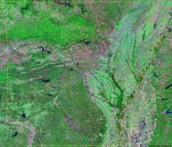 Satellite View Map Arkansas Satellite Images Landsat Color Image