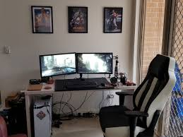 how to cable manage a desk my new years resolution was to finally cable manage my battlestation