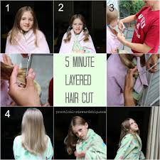 my easy diy 5 minute layered haircut practical stewardship