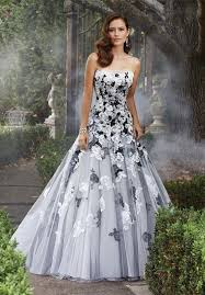 white and grey wedding dress black and gray wedding dresses you ll with weddceremony com