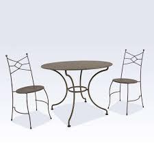 chaise jardin aluminium chaise de jardin en métal seringua 4 pieds tables chaises et