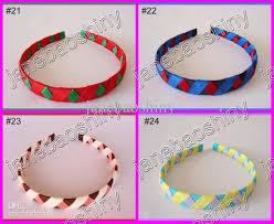 ribbon headbands girl woven headbands popular ribbon headbands mix color baby