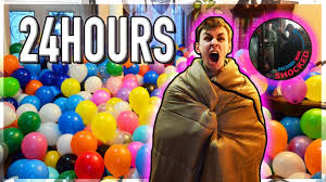 overnight balloon delivery 24 hour overnight challenge in a balloon pit delivery shocked
