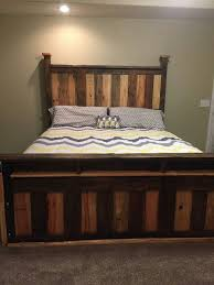 King Size Beds This Two Toned Pallet King Size Bed Frame Was Made From Scrap