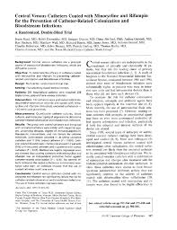 Extended Definition Essay Example Central Venous Catheters Coated With Minocycline And Rifampin For