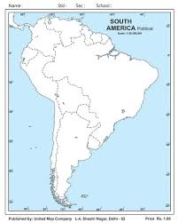outline of south america map outline maps manufacturer in new delhi delhi india by united