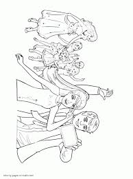 barbie and her sisters in a pony tale coloring pages for free