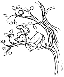 zacchaeus jesus fear coloring page wecoloringpage