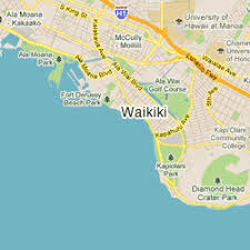 map of waikiki maps cheap honolulu airport car rental