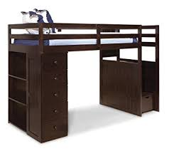 Loft Beds With Desks And Storage Amazon Com Canwood Mountaineer Loft Bed With Storage Tower And