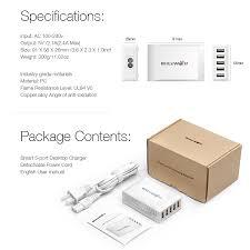 blitzwolf bw s1 40w smart 5 port high speed desktop usb charger