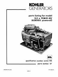 kolher 7000 parts manual carburetor electrical connector
