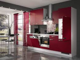 kitchen red kitchen cabinet glossy tile flooring stylish kitchen