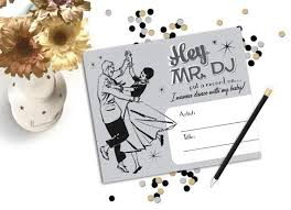 wedding song request cards 9 best dj cards song request images on song request