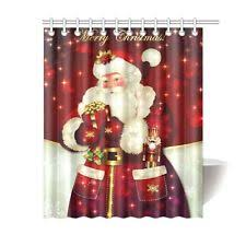 christmas shower curtain ebay