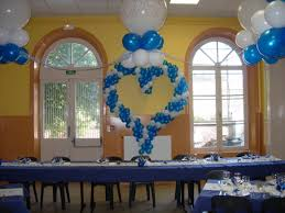 Balloon Decoration At Home Sweet Love Shape Balloon Near Glason Blue Tablecloth Fit To