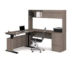 Height Adjustable Desk Reviews by Adjustable L Shaped Desk With Lateral File And Bookcase