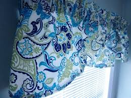 Valance Blue Blue U0026 Green Paisley Valance Entri Ways