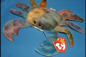beanie babies claude the crab ty dye toy 4083 ebay