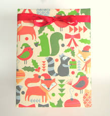 christmas gift wrap rolls winter woodland animals christmas wrapping paper gift