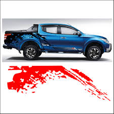 mitsubishi l200 2015 mudslinger body rear tail side graphic vinyl for mitsubishi l200