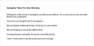 sympathy thank you cards sympathy thank you note template 8 free word excel pdf format
