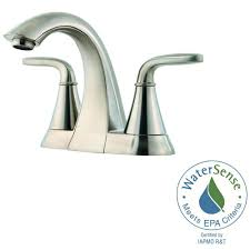 pfister pasadena 4 in centerset 2 handle bathroom faucet in slate