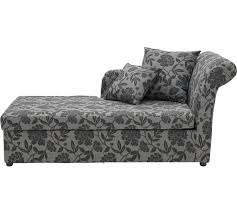 2 Seater Chaise Lounge Buy Home Floral 2 Seat Fabric Chaise Longue Sofa Bed Charcoal At