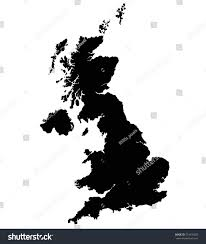 united kingdom map vector silhouette isolated stock vector