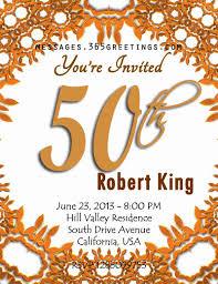 birthday invitation greetings sle 50th birthday invitation 50th birthday invitations and 50th