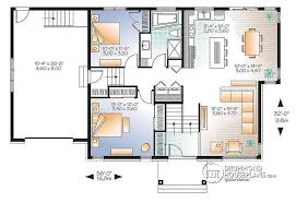 Split Level Homes Plans House Plan W3128 V2 Detail From Drummondhouseplans Com