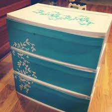 plastic 6 drawer bin from walmart spray paint glitter and