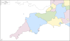 Counties Of England Map by South West England Free Map Free Blank Map Free Outline Map