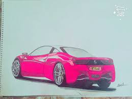 ferrari 458 sketch mani designs
