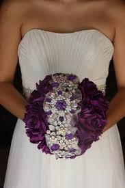 Purple Wedding Flowers Purple Brooch Bouquet Purple Wedding Bouquet Purple Bridal Bouquet