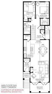small narrow house plans narrow townhouse plans processcodi