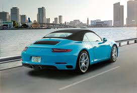 porsche 911 back images porsche 911 carrera s cabriolet light blue back view