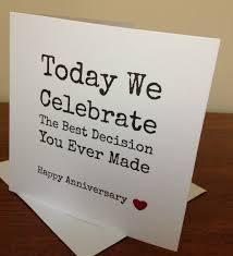 wedding anniversary wishes jokes handmade husband anniversary card view more