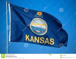 Montana State Flag State Flag Of Kansas Stock Photo Image Of Seals Flagpoles 23168066
