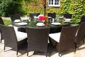 Rattan Dining Room Furniture by Baby Royal 1 8 Metre Oval Grey Rattan Dining Table And 6 Carver