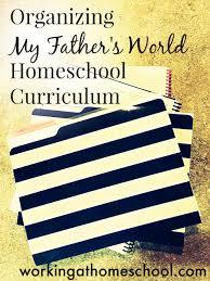 organizing homeschool worksheets working at homeschool