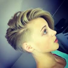 side quiff hairstyle ladies color