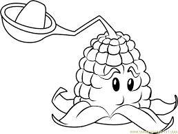 kernel pult coloring page free plants vs zombies coloring pages