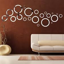 3d decorative reflective circle mirrored wall stickers removable decorative reflective circle mirrored wall stickers decals zoom