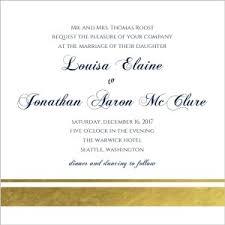 wedding invitation wording for already married wedding invitation wording one set of parents hosting