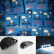 best hat clip light 5 leds cap hat light clip on 5 led fishing cing head light